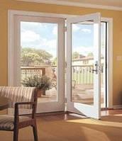 Алюминиевые входные двери (теплый алюминий) разм 900*2100, стеклопакет 1 кам