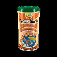 Tetra Pond Colour Sticks корм для усиления окраса рыб в палочках, 1 л
