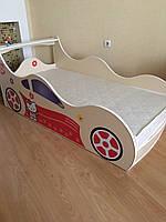 Детская кровать-машина для девочки Хелоу Китти