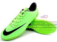 Футзалки (бампы) Nike Mercurial\Найк Меркуриал, салатовые,к11387