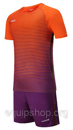 Футбольная форма Europaw 013 оранжево-фиолетовая, фото 2