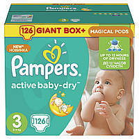 Подгузники Pampers Active Baby-Dry Размер 3 (Midi) 5-9 кг 126 шт.