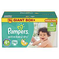Подгузники Pampers Active Baby-Dry Размер 4+ (Maxi+) 9-16 кг  96 шт.