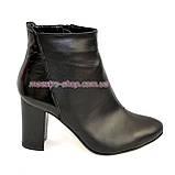Женские демисезонные ботинки на высоком каблуке, фото 2