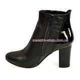 Женские демисезонные ботинки на высоком каблуке, фото 3