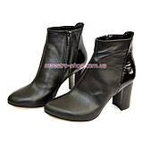 Женские демисезонные ботинки на высоком каблуке, фото 4