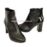 Женские демисезонные ботинки на высоком каблуке, фото 5