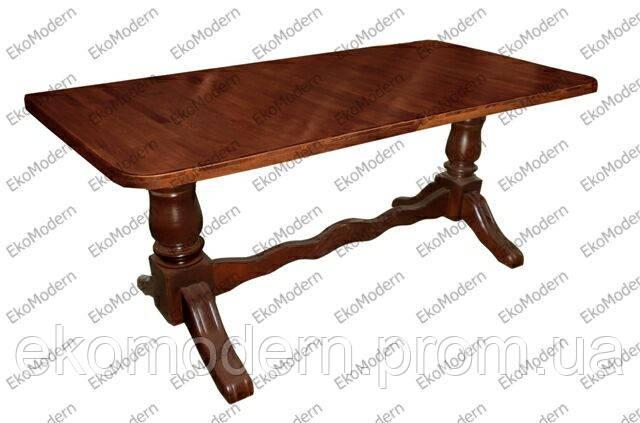 Стол деревянный обеденный ЦЕЗАРЬ прямоугольный для дома, кафе и ресторана