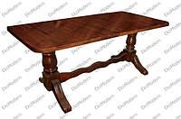 Стол деревянный обеденный ЦЕЗАРЬ для дома, кафе и ресторана 140х80 см, прямоугольная