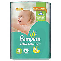 Подгузники Pampers Active Baby-Dry Размер 4 (Maxi) 8-14 кг 10 шт.
