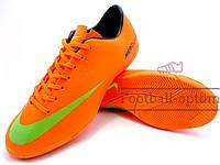 Футзалки (бампы) Nike Mercurial\Найк Меркуриал, оранжевые, к11387