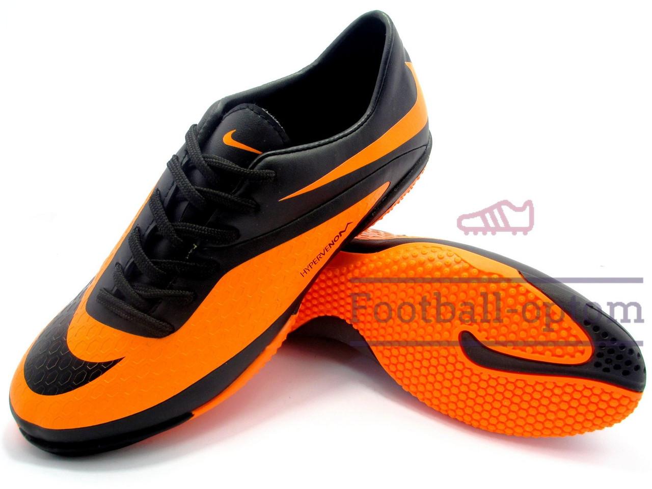 bc208becc284d8 Футзалки Nike Hypervenom Phantom\Найк Гипервеном Фантом, оранжево-черные,  к11389 - Футбольный