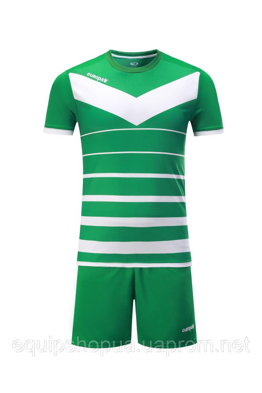 Футбольная форма Europaw 014 зелено-белая