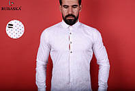 Нарядная белая мужская рубашка