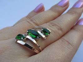 Серебряные кольца с золотой вставкой