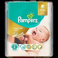 Подгузники Pampers Premium Care  New Born Размер 2 (Для новорожденных) 3-6 кг 22 шт.