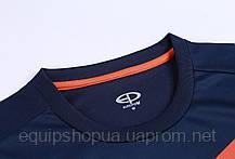 Футбольная форма Europaw 014 т.сине-оранжевая, фото 3