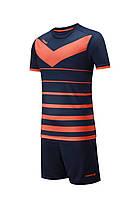 Футбольная форма Europaw 014 т.сине-оранжевая, фото 2