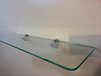 Полка стеклянная прямая прозрачная 4 мм 40 х 15 см