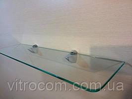 Полиця скляна пряма прозора 4 мм 40 х 15 см