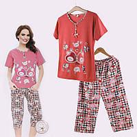 Пижама женская светло-красная
