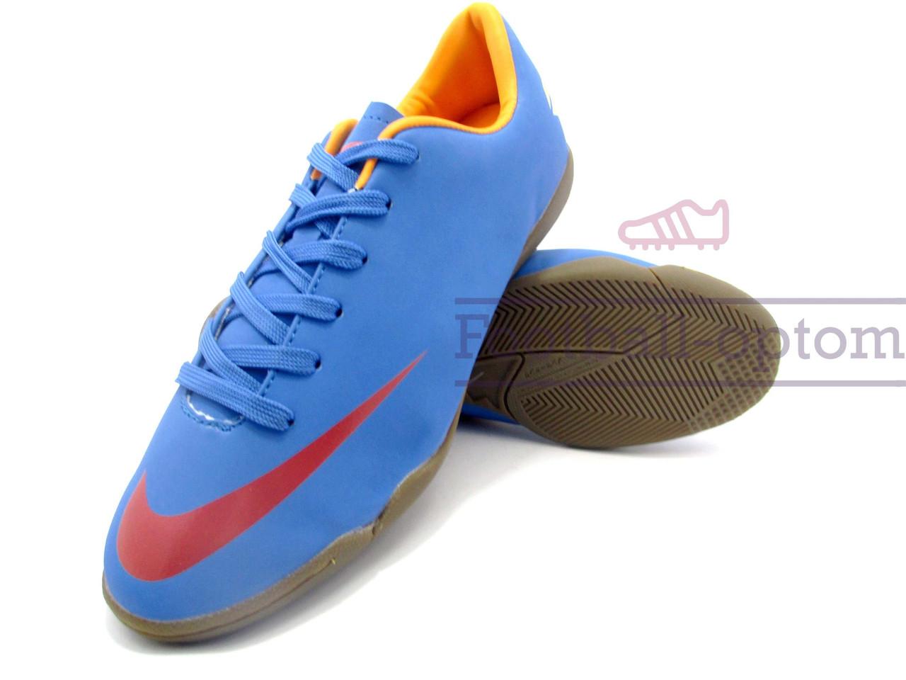 44d45453 Футзалки (бампы) Nike Mercurial\Найк Меркуриал, синие, к11405 - Футбольный  супермаркет