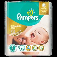 Подгузники Pampers Premium Care New Born Размер 2 (Для новорожденных) 3-6 кг 80 шт.