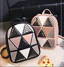 Рюкзак женский с ромбами, фото 2