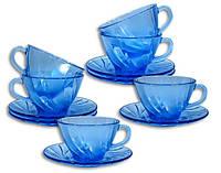 Набор для чая Duralex Beau Rivage Marine 12 предметов на 6 персон