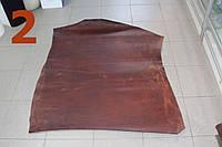 Кожа растительного дубления  жированная  беверли 2,0  коричневая  Италия, фото 1