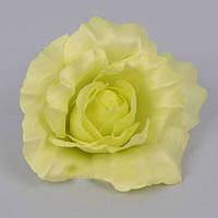 Головка розы 10см зеленая Цветы искусственные