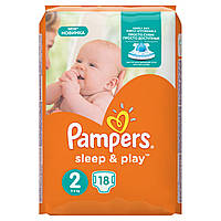 Подгузники Pampers Sleep & Play Размер 2 (Mini) 3-6 кг 18 шт.