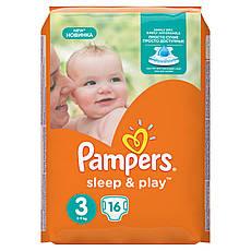 Подгузники Pampers Sleep & Play Размер 3 (Midi) 5-9 кг 16 шт.