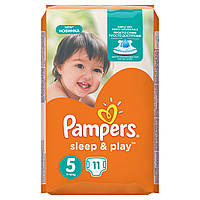 Подгузники Pampers Sleep & Play Размер 5 (Junior) 11-18 кг 11 шт.