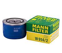 Фильтр масляный Mann W914/2 (Лада, ваз, приора, сенс, таврия)