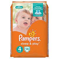 Подгузники Pampers Sleep & Play Размер 4 (Maxi) 8-14 кг 14 шт.
