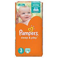 Подгузники Pampers Sleep & Play Размер 3 (Midi) 5-9 кг 78 шт.