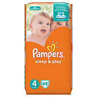 Подгузники Pampers Sleep & Play Размер 4 (Maxi) 8-14 кг 68 шт.