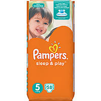 Подгузники Pampers Sleep & Play Размер 5 (Junior) 11-18 кг 58 шт.