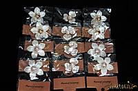 Брошки с камнями, упаковка ассорти , длина: 3,5-4 см, 12 штук в упаковке