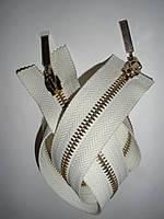 Молния металлическая разъемная 44см, 2 бегунка, фото 1