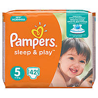 Подгузники Pampers Sleep & Play Размер 5 (Junior) 11-18 кг 42 шт.