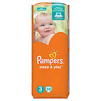 Подгузники Pampers Sleep & Play Размер 3 (Midi) 5-9 кг 58 шт.