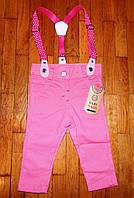 Детские коттоновые штаны для девочек Бюти 6-24 м.