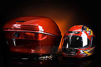 Кофр пластиковый с шлемом внутри Gx Motor