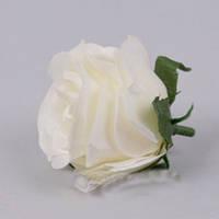 Головка розы 4см кремовая Цветы искусственные