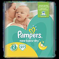 Подгузники Pampers New Baby-Dry Размер 2 (Mini) 3-6 кг 27 шт.