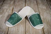 Тапочки для бани и сауны EURO TEXTILE зеленые, флизелиновые, фото 1