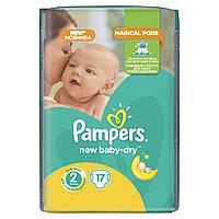 Подгузники Pampers New Baby-Dry Размер 2 (Mini) 3-6 кг 17 шт.