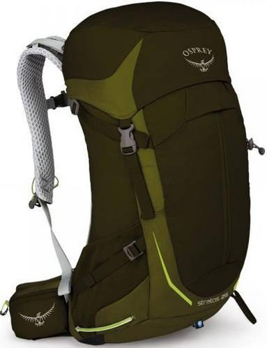 Качественный туристический  рюкзак на 26 л. Osprey Stratos 26 S зеленый